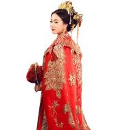 Ancient Xiuhe Dress Tailing Big Cloak Wind Chinese Wedding Dress Women