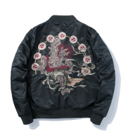 Chinese Style Embroidered Coat Men's Flight Jacket