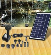 Solar Small Garden Mini Flower Fountain Poolroom