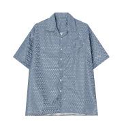 Solid Color Loose Short-Sleeved Shirt Men