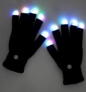 Black Fingertip Colorful Glowing Gloves