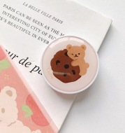 New Epoxy Resin Universal Cute And Cartoons Foldable Airbag Bracket Mobile Phone Ring Bracket For Iphone Huawei Xiaomi Samsung