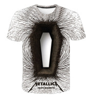 Heavy Metal Band Round Neck T-shirt Short Sleeves