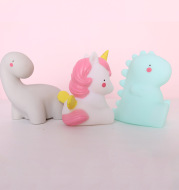 Night Light Girl'S Heart Unicorn Ornament Creative Night Feeding Gum Bedside Lamp