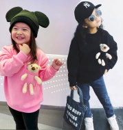 Children's Clothing Korean Girl Cartoon Bear Thickening