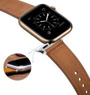 Pure Color Top Layer Cowhide Watch Strap