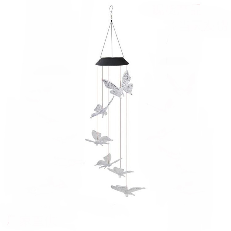 Solar Powered LED Butterfly Wind Chimes 7