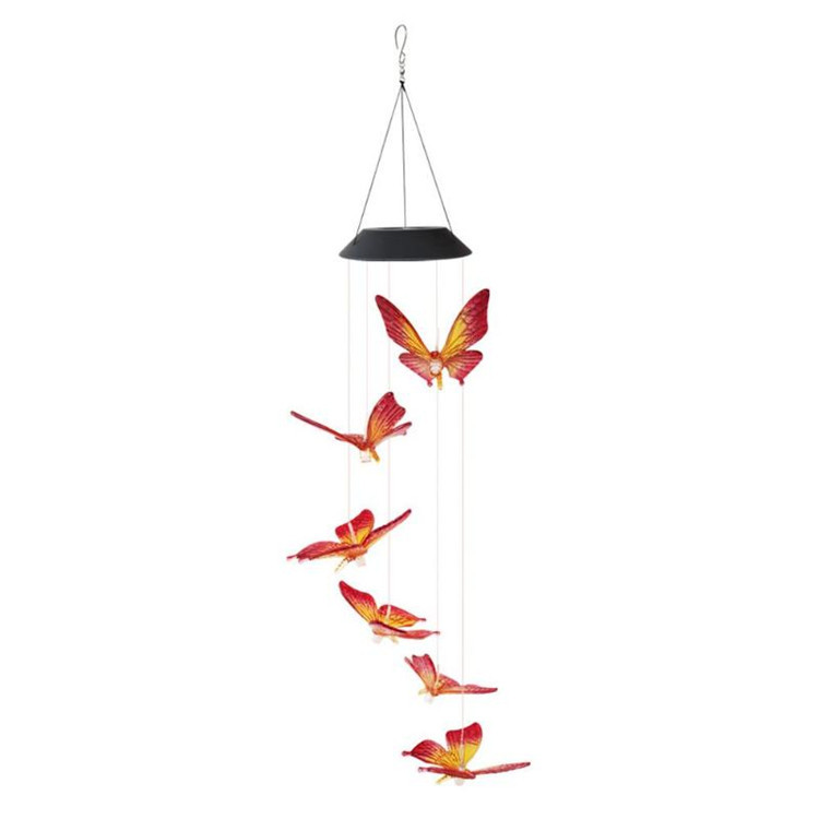 Solar Powered LED Butterfly Wind Chimes 8