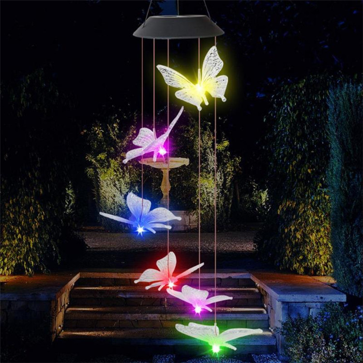 Solar Powered LED Butterfly Wind Chimes 9