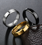 Stainless Steel Ring for Women Men Fashion Gold Color Finger Rings Wedding Band Jewelry Gift
