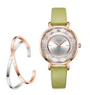 Vintage Forest Leather Ladies Watch