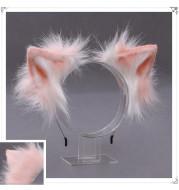 A Drop-In Japanese Lolita Headwear Cat Ears Fox Plush Hairpin Hair Accessories Hand-Made Simulation Beast Ears Headband