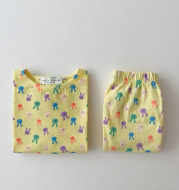 Spring and summer split pajamas for boys and girls
