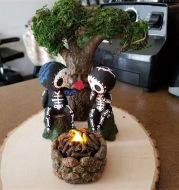 Sugar Skull Couple Figurine Cute Decoration
