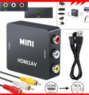 1080P Hdmi To Rca Av Converter Composite Cvbs Audio Video Adapter