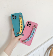 IPhone 11 Pro Max Case, Candy Colors Chain Protector for iPhone 12 Pro Max XS Max X XR 8 7 Plus