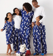 Home Furnishing Suit Casual Printing Two-Piece Pajamas Parent-Child Wear