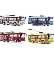 Single Section Tram Bus Simulation Car Model Children's Alloy Toy Bus