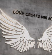 Office Decoration Net Red Photo Card Printing Angel Wing Corporate Culture Background Wall Sticker Drawing Inspirational