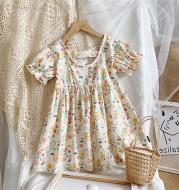 Children's Clothing Girls Floral Dress Pastoral Style Princess Dress