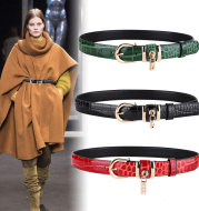 Wide Belt Ladies Cowhide Wide Belt Leather Decorative Belt