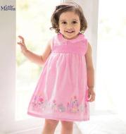 Children'S Dress European And American Children'S Summer New Style Girl Dress Cotton Short-Sleeved Children'S Dress