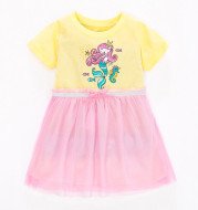 Children's Net Dress With Short Sleeves