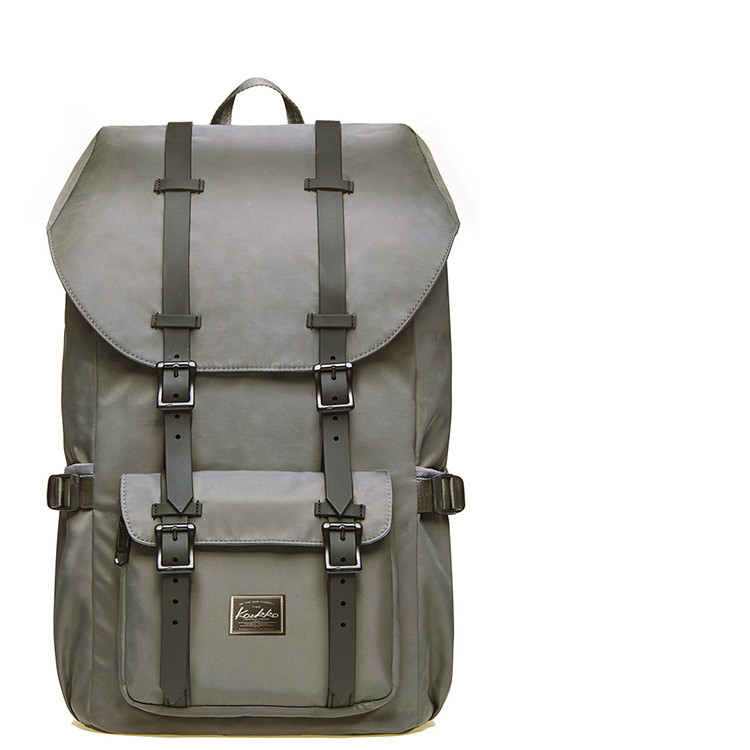 Back To Life Large Capacity Backpack Grey - Hip-Hatter