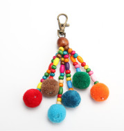 Original Diy Jewelry Accessories Pendant Color Hair Ball Female Bag Pendant Keychain