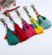 Bohemian DIY Handmade Beaded Wool Woven Colorful Tassel Pendant