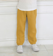 Summer Boys And Girls Cotton And Linen Mosquito Pants Thin Section