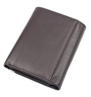Head Layer Cowhide Texture Wallet Unisex 2 Fold Wallet