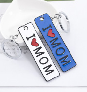 Double-Sided Lettering Dripping Oil I Love Mom Mother's Day Gift
