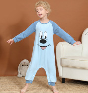 Kids' Kicking And Catching Cold Proof Children'S Home Clothes Pure Cotton Spring And Autumn