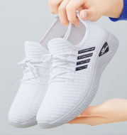 Flying Woven Casual Shoes Women Summer Breathable Mesh Shoes Low