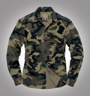 Tooling Shirt Long-sleeved Jacket Camouflage Tooling Military Jacket Thick Twill