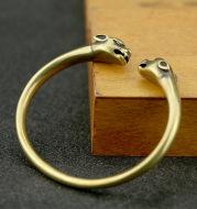 Punk Brass Leopard Bangles Bracelet For Men Jewelry