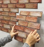 Brick Wallpaper Living Room Decoration Paper Kitchen Waterproof Self-Adhesive Wall Sticker Bedroom Moisture-Proof Wallpapers