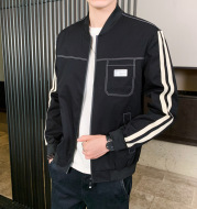 Fashion Simple Men's Stand Collar Jacket
