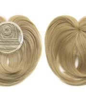High Temperature Silk Chemical Fiber Wig Top Heart Bangs, Peach Heart Bangs On The Top Of TheHead