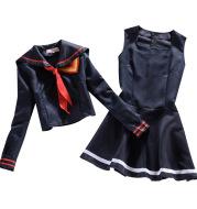 Cosplay Costume T-Shirt Skirt Sailor-Suit School-Uniform Ryuko Kill-Matoi Japanese-Anime