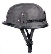 Motorcycle   Lightweight Steel Scoop Half Helmets Men and Women