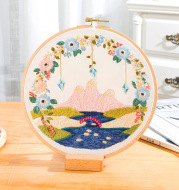 Embroidery Su Embroidery Pastoral Style Diy Self-Embroidered Fabric Bag
