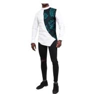 Printed Batik Cotton Color Matching Shirt