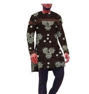 Ethnic Printed Batik Cotton Men'S Top