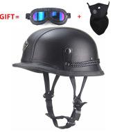 Helmet Cruise Retro Helmet Pedal Locomotive Prince Helmet Leather Cap Half Helmet