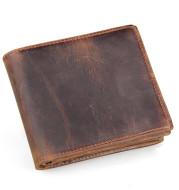 Men Wallets Luxury Horse Leather Wallet Leather Short Wallet Men'S Leather Wallet