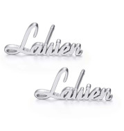 925 Sterling Silver Earrings European And American Style Personalized Name Customization Exclusive Personalized Earrings