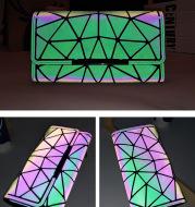 Tri-Fold Luminous Rhombic Wallet New Simple Long Wallet Retro Small Card Bag Women's Clutch