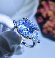 Super Shining Princess-cut Zircon Ring